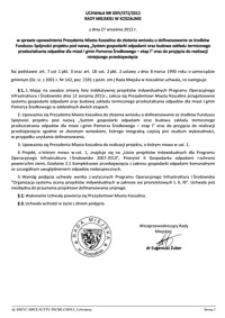 Uchwała Rady Miejskiej w Koszalinie nr XXIV/372/2012