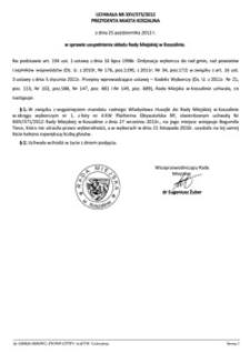 Uchwała Rady Miejskiej w Koszalinie nr XXV/373/2012