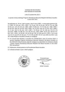 Uchwała Rady Miejskiej w Koszalinie nr XXV/376/2012