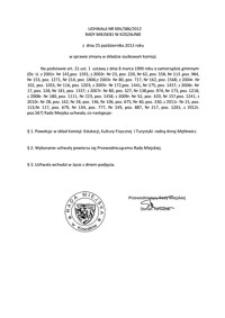 Uchwała Rady Miejskiej w Koszalinie nr XXV/386/2012