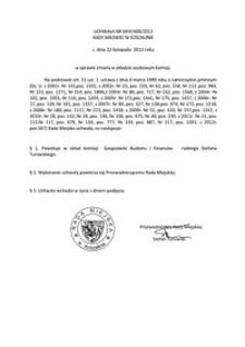 Uchwała Rady Miejskiej w Koszalinie nr XXVI/400/2012