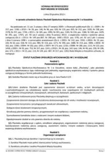 Uchwała Rady Miejskiej w Koszalinie nr XXVII/419/2012