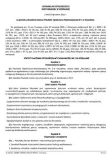 Uchwała Rady Miejskiej w Koszalinie nr XXVII/420/2012