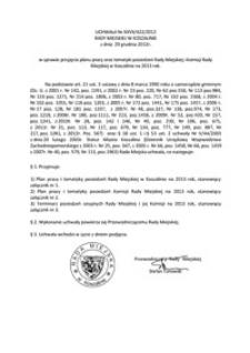 Uchwała Rady Miejskiej w Koszalinie nr XXVII/422/2012