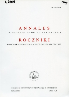 Annales Academiae Medicae Stetinensis = Roczniki Pomorskiej Akademii Medycznej w Szczecinie. 2011, 57, 3