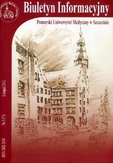 Biuletyn Informacyjny - Pomorski Uniwersytet Medyczny w Szczecinie. Nr 3 (77), Listopad 2012