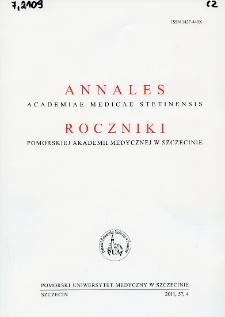 Annales Academiae Medicae Stetinensis = Roczniki Pomorskiej Akademii Medycznej w Szczecinie. 2011, 57, 4