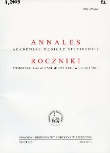 Annales Academiae Medicae Stetinensis = Roczniki Pomorskiej Akademii Medycznej w Szczecinie. 2012, 58, 1