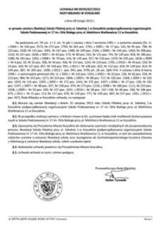 Uchwała Rady Miejskiej w Koszalinie nr XXVIII/427/2013