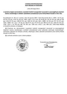 Uchwała Rady Miejskiej w Koszalinie nr XXVIII/432/2013