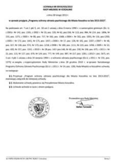Uchwała Rady Miejskiej w Koszalinie nr XXVIII/433/2013