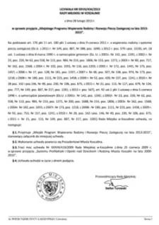 Uchwała Rady Miejskiej w Koszalinie nr XXVIII/434/2013