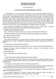 Uchwała Rady Miejskiej w Koszalinie nr XXVIII/435/2013