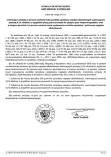 Uchwała Rady Miejskiej w Koszalinie nr XXVIII/436/2013