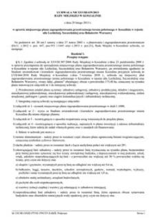 Uchwała Rady Miejskiej w Koszalinie nr XXVIII/439/2013