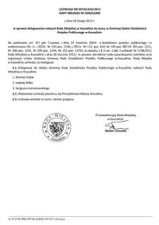 Uchwała Rady Miejskiej w Koszalinie nr XXVIII/444/2013
