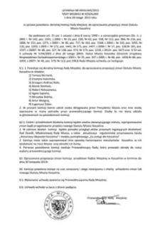 Uchwała Rady Miejskiej w Koszalinie nr XXVIII/445/2013