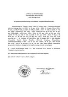 Uchwała Rady Miejskiej w Koszalinie nr XXVIII/446/2013