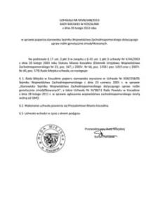 Uchwała Rady Miejskiej w Koszalinie nr XXVIII/448/2013