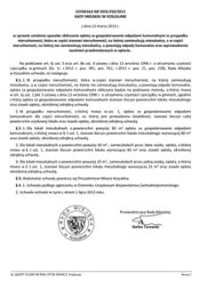 Uchwała Rady Miejskiej w Koszalinie nr XXIX/450/2013