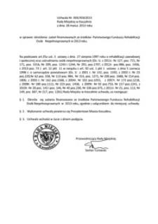 Uchwała Rady Miejskiej w Koszalinie nr XXX/459/2013