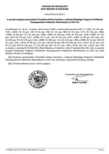 Uchwała Rady Miejskiej w Koszalinie nr XXX/462/2013