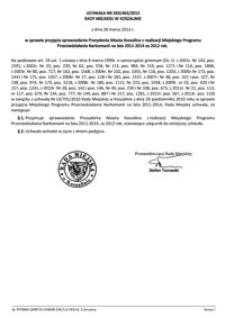 Uchwała Rady Miejskiej w Koszalinie nr XXX/463/2013