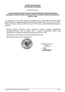 Uchwała Rady Miejskiej w Koszalinie nr XXX/467/2013