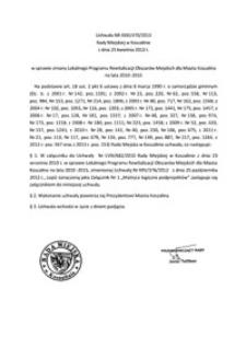 Uchwała Rady Miejskiej w Koszalinie nr XXXI/470/2013