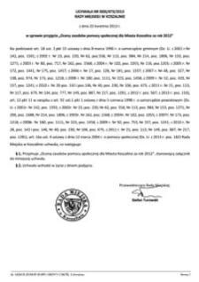 Uchwała Rady Miejskiej w Koszalinie nr XXXI/473/2013