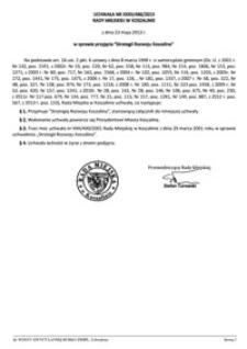 Uchwała Rady Miejskiej w Koszalinie nr XXXII/486/2013