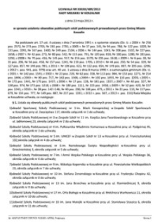 Uchwała Rady Miejskiej w Koszalinie nr XXXII/489/2013