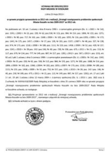 Uchwała Rady Miejskiej w Koszalinie nr XXXII/491/2013