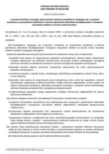 Uchwała Rady Miejskiej w Koszalinie nr XXXIV/505/2013