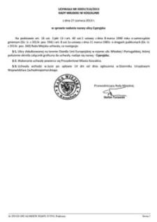 Uchwała Rady Miejskiej w Koszalinie nr XXXIV/516/2013