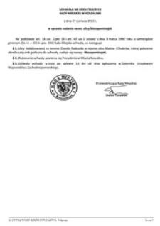 Uchwała Rady Miejskiej w Koszalinie nr XXXIV/518/2013
