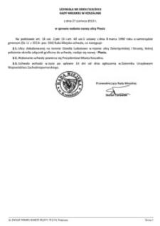 Uchwała Rady Miejskiej w Koszalinie nr XXXIV/519/2013