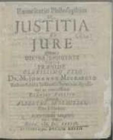 Exercitatio Philosophica De Justitia Et Jure