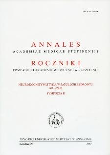 Annales Academiae Medicae Stetinensis = Roczniki Pomorskiej Akademii Medycznej w Szczecinie. 2013, Sympozja 2