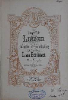 Ausgewählte Lieder Fur eine Singstimme mit Pianofortebegleitung von L. van Beethoven