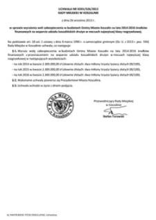Uchwała Rady Miejskiej w Koszalinie nr XXXV/526/2013