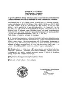 Uchwała Rady Miejskiej w Koszalinie nr XXXV/529/2013