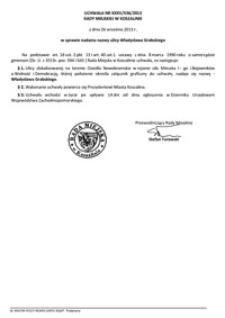Uchwała Rady Miejskiej w Koszalinie nr XXXV/536/2013