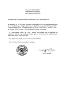 Uchwała Rady Miejskiej w Koszalinie nr XXXV/550/2013