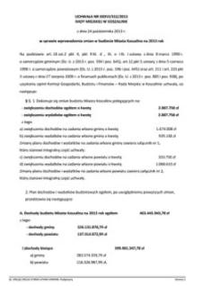 Uchwała Rady Miejskiej w Koszalinie nr XXXVI/552/2013