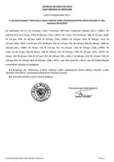 Uchwała Rady Miejskiej w Koszalinie nr XXXVI/557/2013