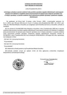 Uchwała Rady Miejskiej w Koszalinie nr XXXVI/559/2013