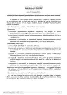 Uchwała Rady Miejskiej w Koszalinie nr XXXVII/562/2013