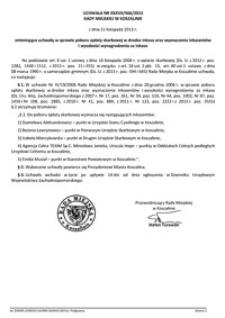 Uchwała Rady Miejskiej w Koszalinie nr XXXVII/566/2013