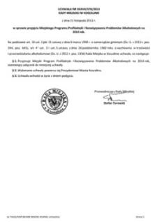 Uchwała Rady Miejskiej w Koszalinie nr XXXVII/570/2013